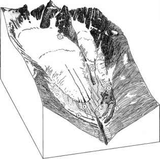 Dip Vally Landform Sketch