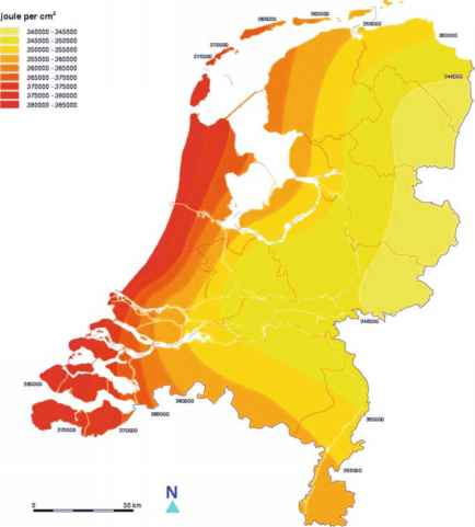 Solar Radiation Netherlands