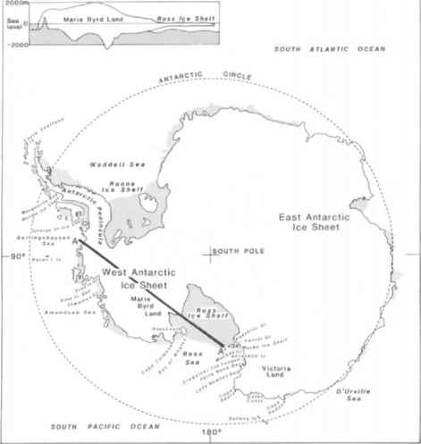 Ice Shwwt Antarctica Cross Section