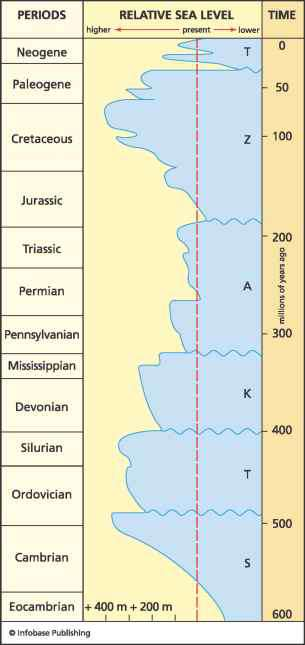 Sea Level Heights During Mesozoic