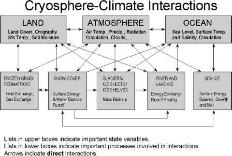 Major Components Cryosphere