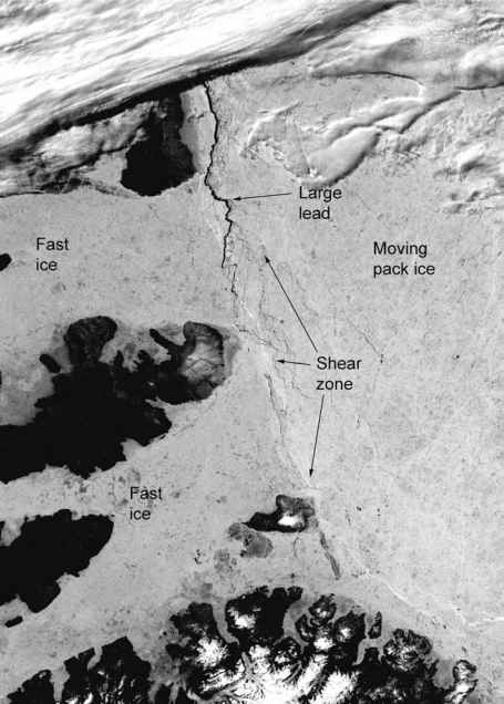 Marginal Zone Ice Winter Satelite