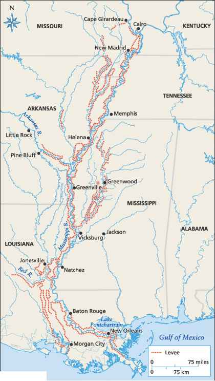 Mississippi River Widening 100 Miles