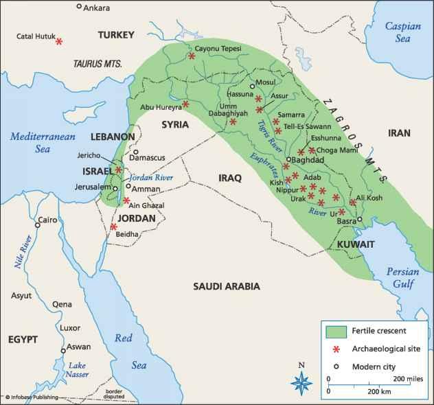 Four Empires of Mesopotamia |Fertile Crescent Population Density
